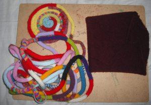 French knitting cushion