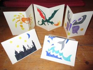 Stencilled Cards